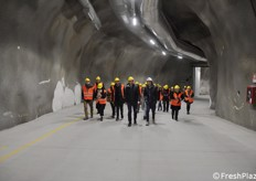 The press delegation, who visited the underground storage on April 13th, 2019, was led by Andrea Fedrizzi and Mauro Erlucher