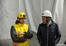 On the left, teh mining complex manager Fabrizio Conforti