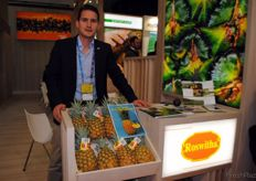 Michael Dähler, de Swiss Tropical (Fruit Marketing). Michael es uno de los dos hermanos de la próxima generación, que han relevado a su padre en el negocio.